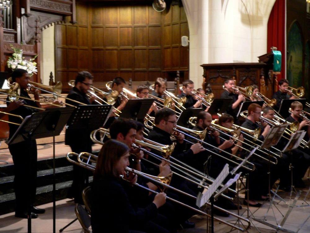 UT Trombone Choir in Paris, France