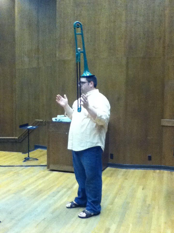 um...I can balance a pBone on my head.
