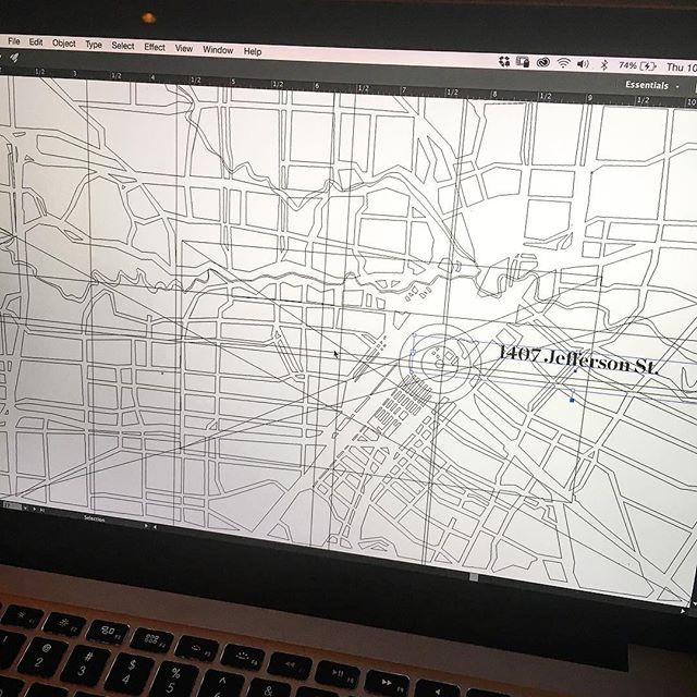 Can't find a decent map, make one! #designerproblems #houston #mural #houstonheritage #comingsoon #graphicdesign #map #layoutdesign