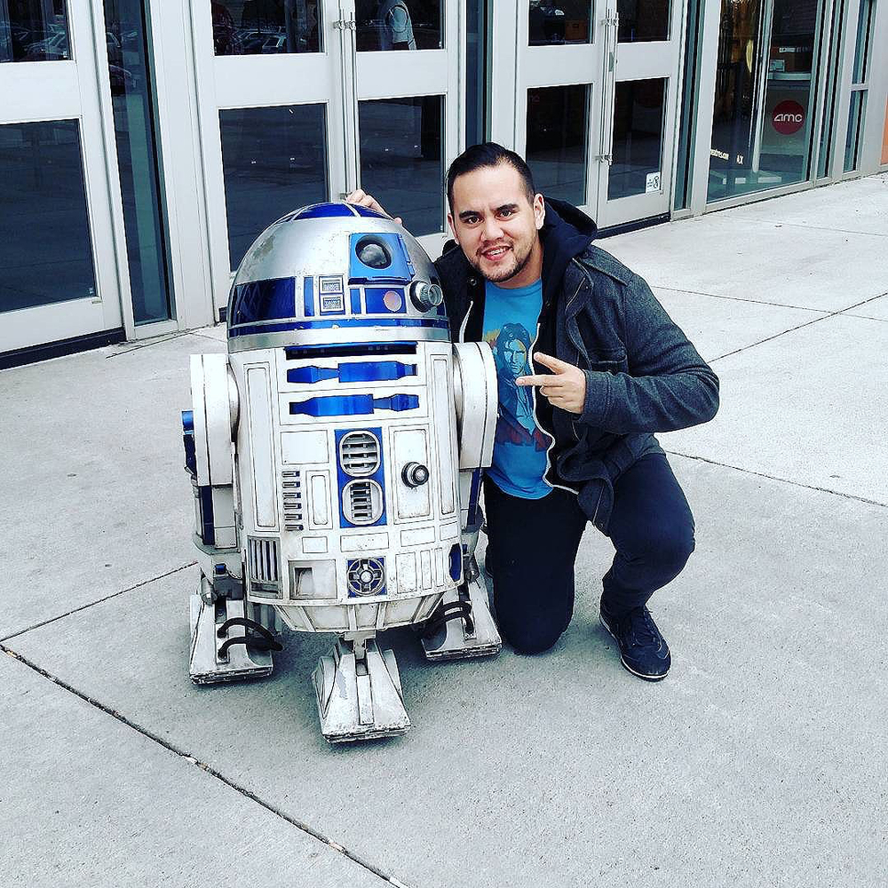 That time Nick met R2-D2 in Ohio.  Winter 2015