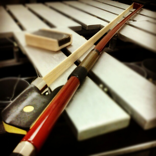"Bowed vibraphone textures on ""Bees Knees.""  Recording  A Harm Deep But Shining  with  The Jungle AE."
