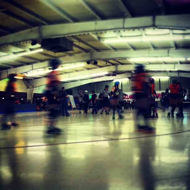 Michigan roller derby.  Winter 2013