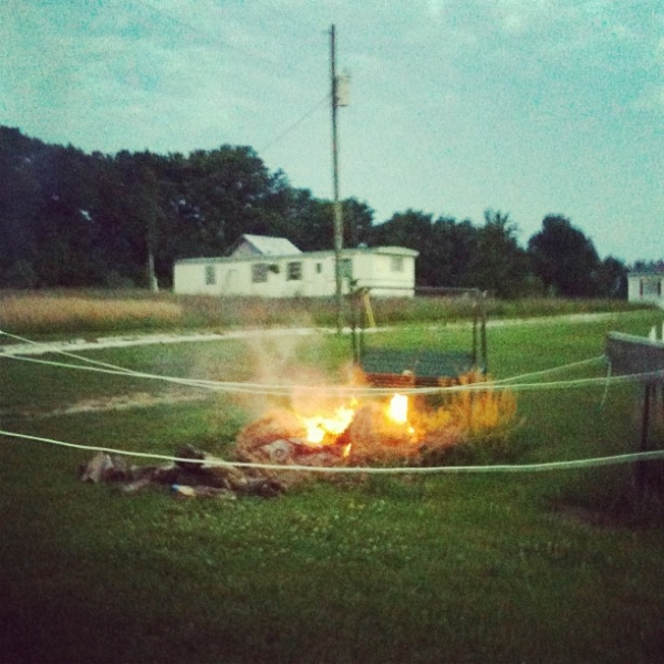 Trailer party in Missouri.  Summer 2012