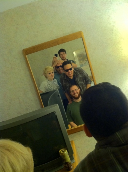 Hotel mirror selfies.  Summer 2012