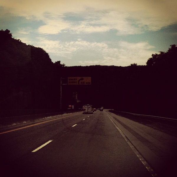Driving through the mountains of northern Georgia.  Summer 2012