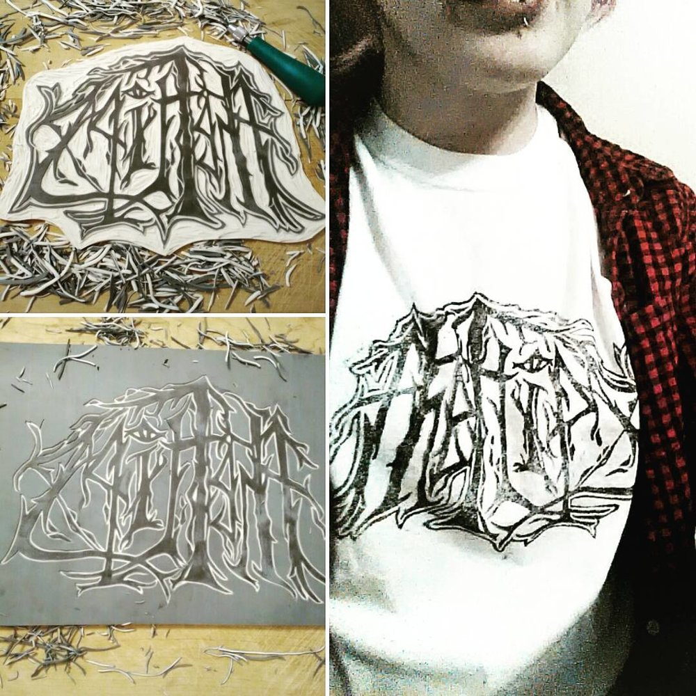 Making some metal af shirts.  Winter 2017
