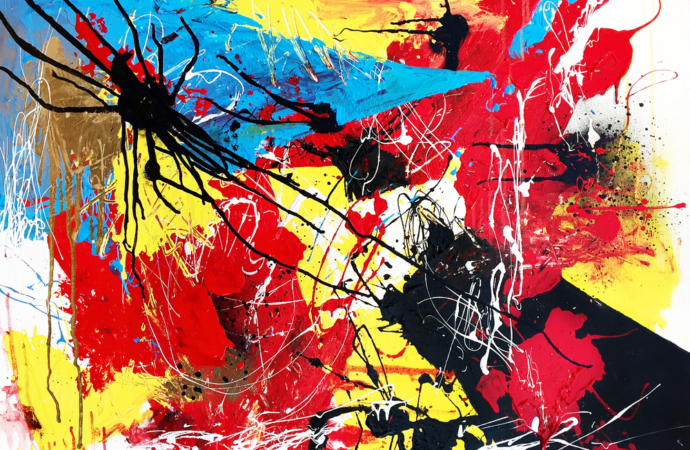 An emotional expressive compulsion painting meant for the purpose of purely evoking emotion