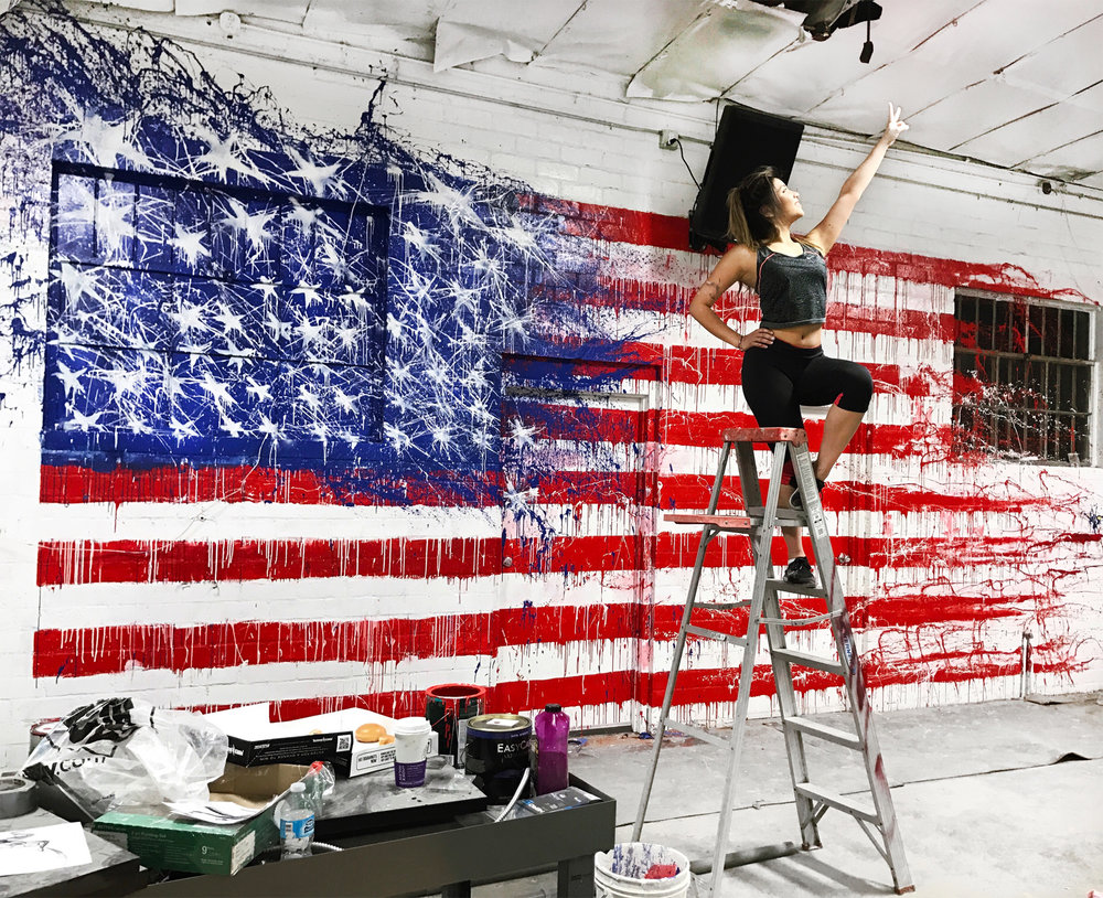 The American Dream Mural - at No Limit Training Facility, North Hollywood