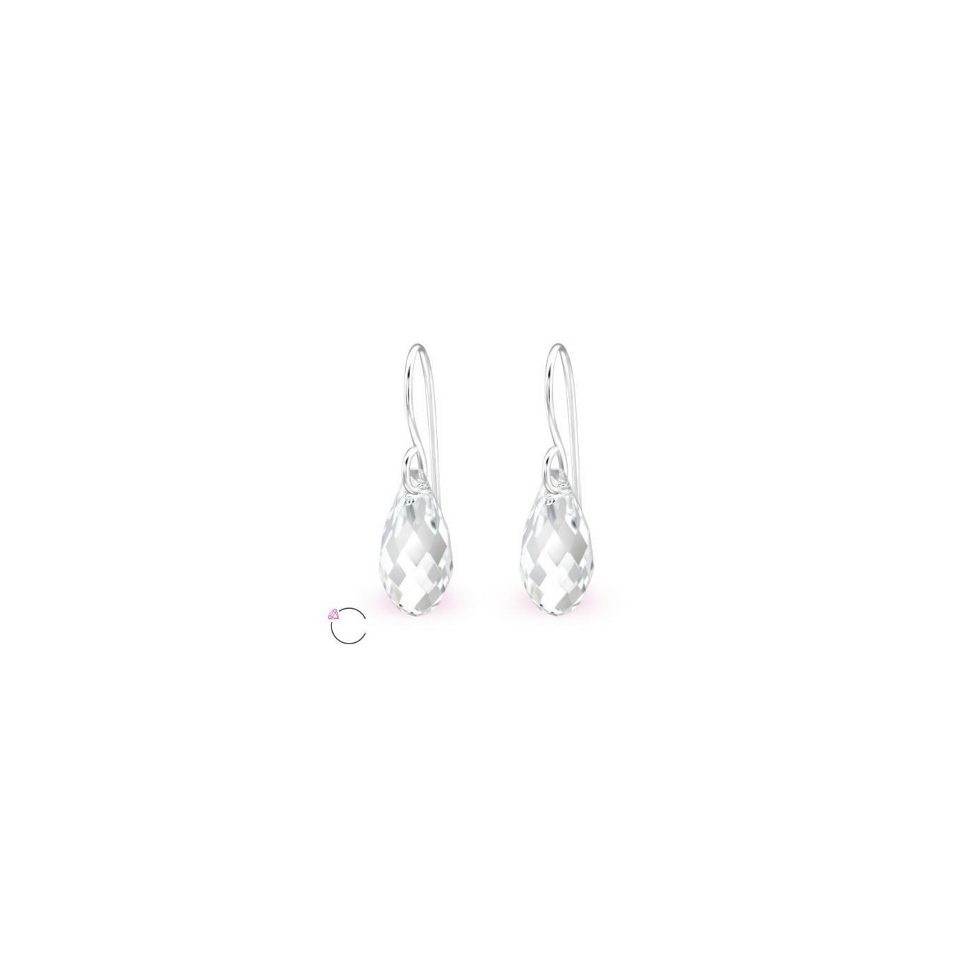 Sterling Silver and Swarovski Crystal Drop Earrings  Wedding Dresses ... 4b20816dbf66
