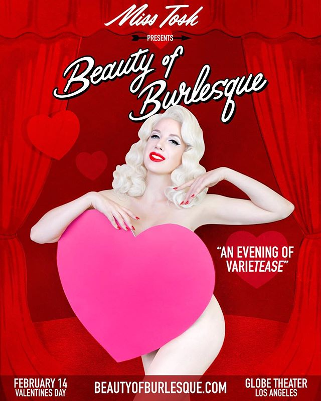 Beauty of Burlesque Giveaway WINNER @mandykay1031 🎊❤️🎊 congratulations you won  4 VIP TICKETS to @beautyofburlesque  Feb.14th at the Historic @globetheatre_la ! Group Meet & Greet package + @misstoshcollection swag bag! Prizes valued at $500 ❤️ thank you to everyone who entered. So keep your eyes peeled for future giveaways leading up to show day! #beautyofburlesque #misstosh