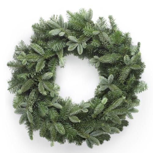 Naked blue fir wreath