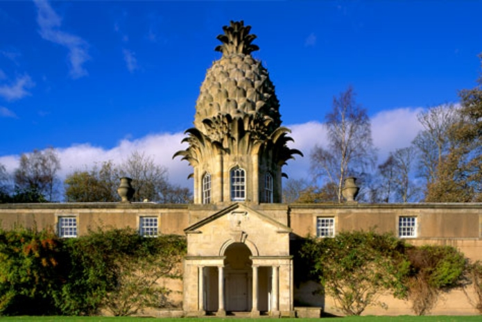 Lord Dunmore's eccentric summerhouse-available to rent through the Landmark Trust