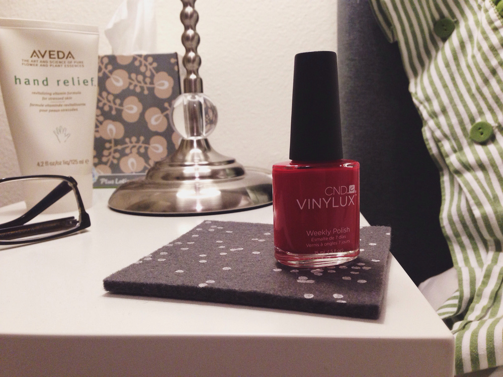 CND Vinylux Nail Polish Rouge Red Ellingsen Photography