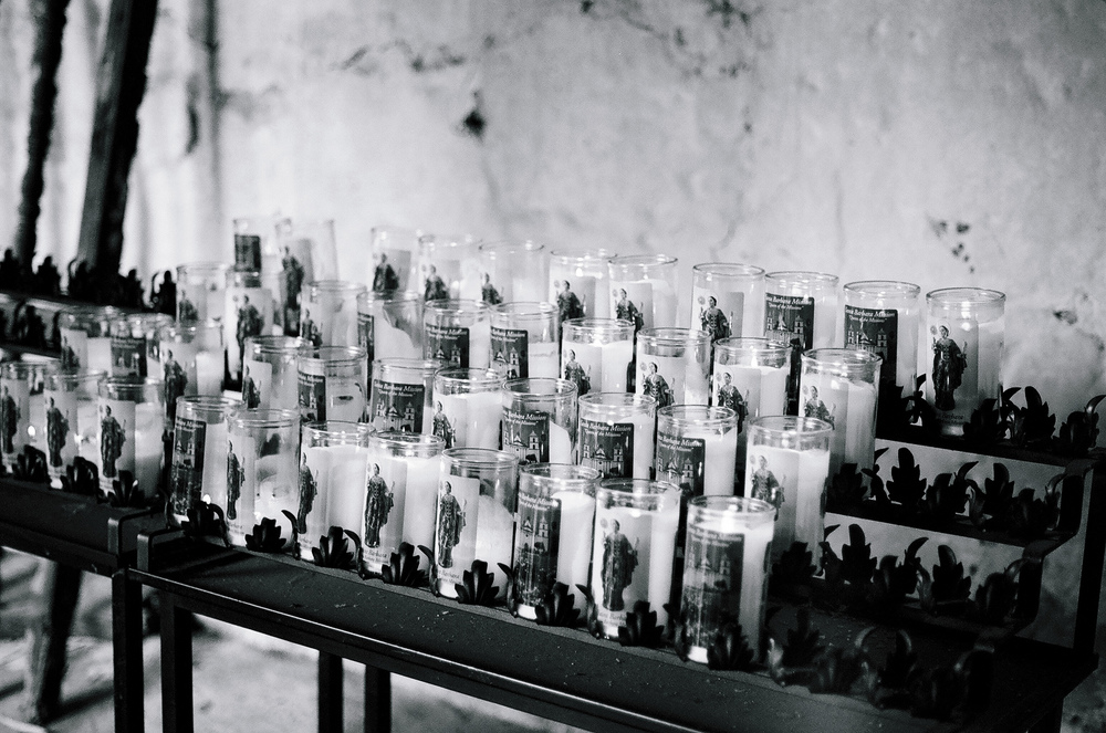 Ellingsen Photography Santa Barbara Day Trip Ilford B&W Film Mission Candles