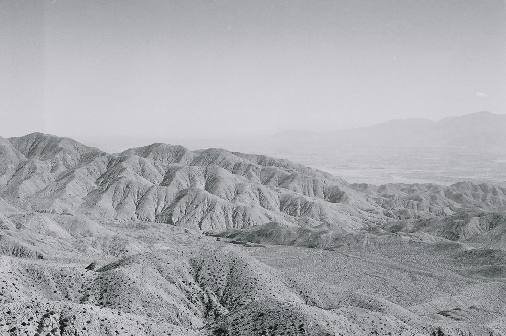 Ellingsen Photography Film Joshua Tree B&W Keys View Eastern Vista
