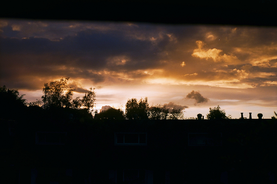 Ellingsen Photography Ektar Film Scans Rainy Sky Sunset