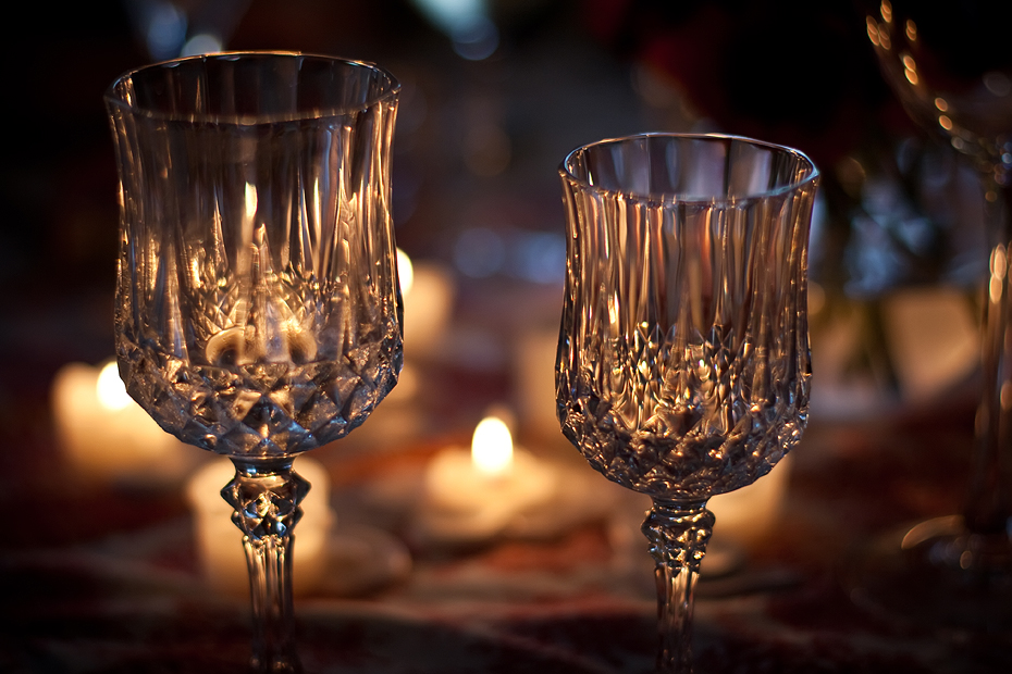 Ellingsen Photography Rose Colored Glasses Dinner Party-Candlelight Wine Glasses