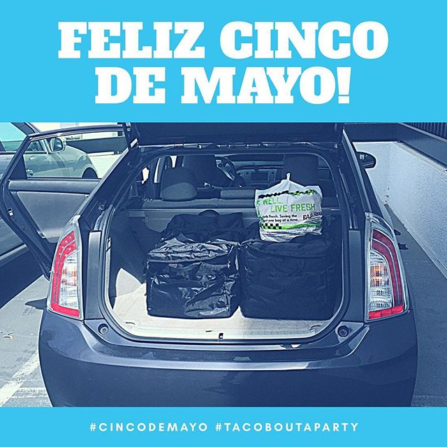 Get your Mexican fix delivered 🎉🌮🚘🏁🇲🇽 #CincoDeMayo #mexicanfood #catering #fooddelivery