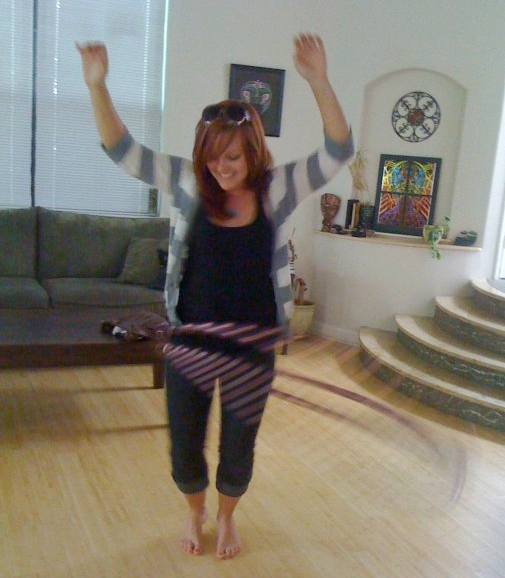 The first time Kelsey ever hula hooped in 2010.