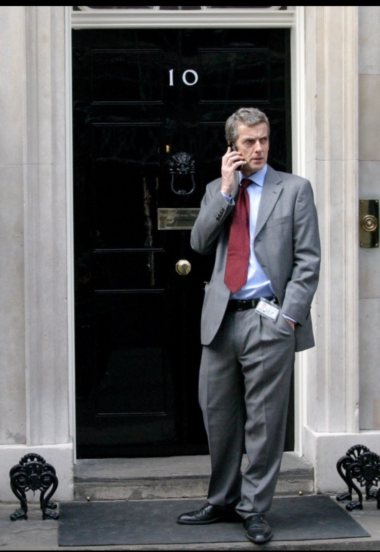 Peter Capaldi playing Malcolm Tucker outside Downing St - both intimidating you to read this blog and starring in the meta-ultra critical and satirical  Thick of It.  TV has a handle on this satire stuff...does theatre need to catch up and snatch back the crown?