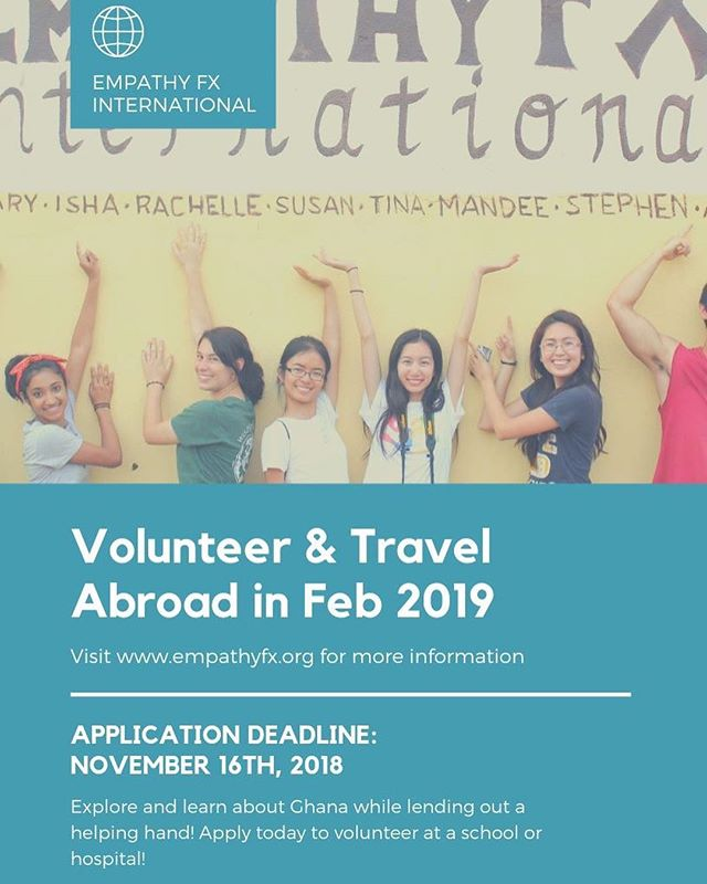 We are recruiting volunteers for our winter travel program! Learn more and apply today at empathyfx.org for our trip from Feb 1 - 10th. Applications are due November 16th.