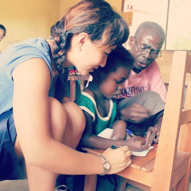 Happy Friday! Tax return season is coming up. Don't forget that your donation is 100% tax deductible! You can donate at www.empathyfx.org. Here's a picture of our student and teacher writing a thank you letter to our donors in an Empathy school building after class!