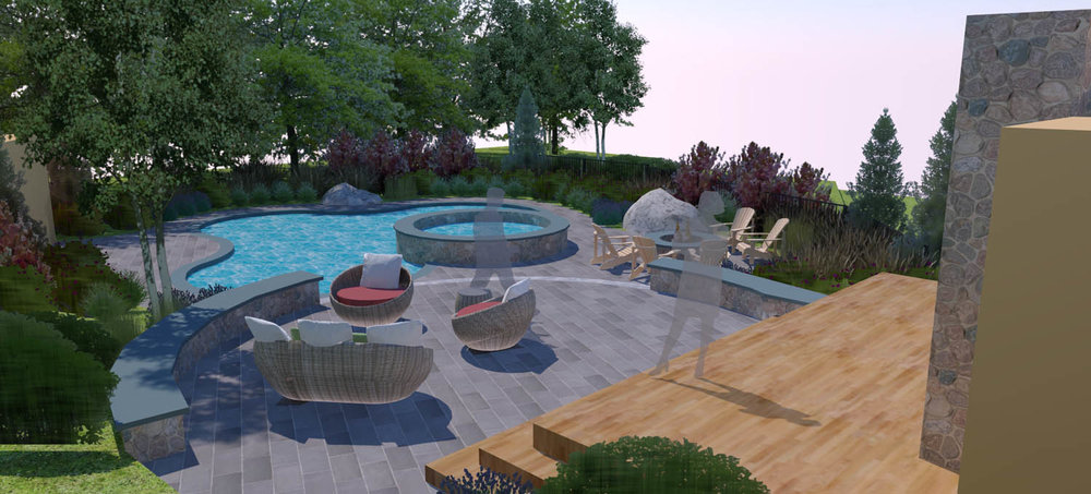 Lexington pool and hardscape