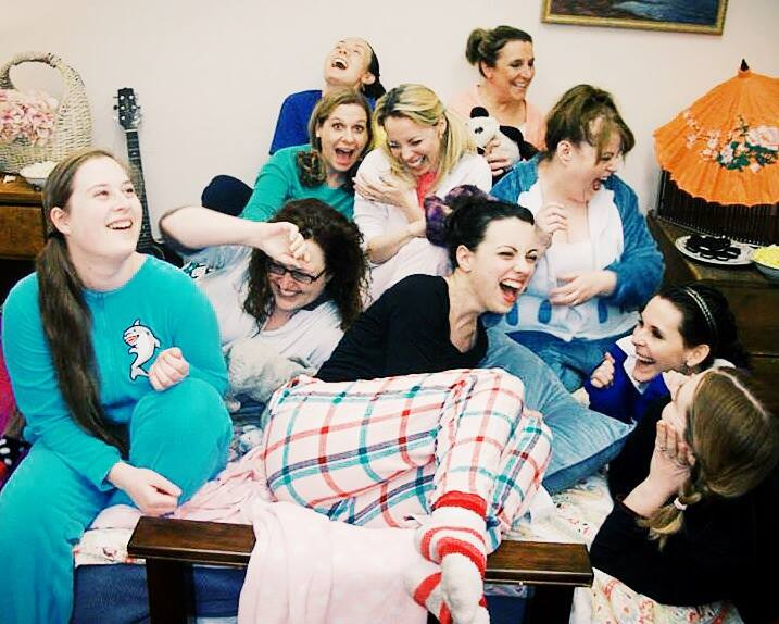 Mopco women sleepover before LADYPROV in Spring 2015