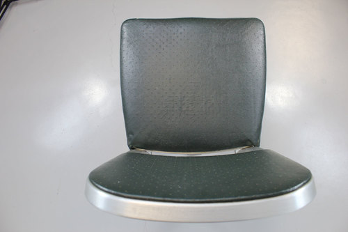 vintage brushed aluminum desk chair mid century modern unique
