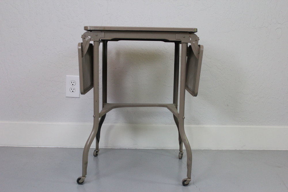 Vintage Industrial Metal Folding Table