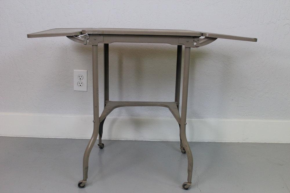 Vintage Industrial Metal Folding Table