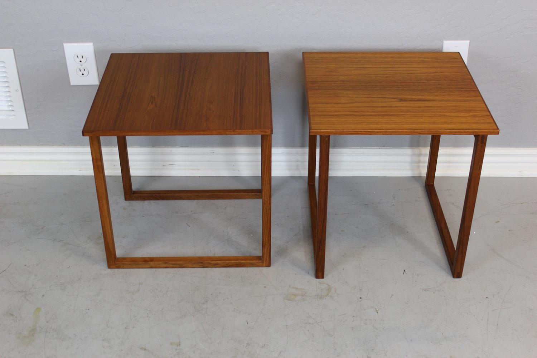 Danish Teak Side Table Pair