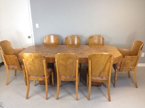 Marcel Guillemard Art Deco Dining Table and Chairs — Mid Century ...