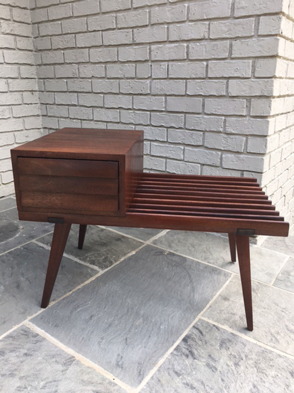 Side or end or telephone table by founders mid century modern unique