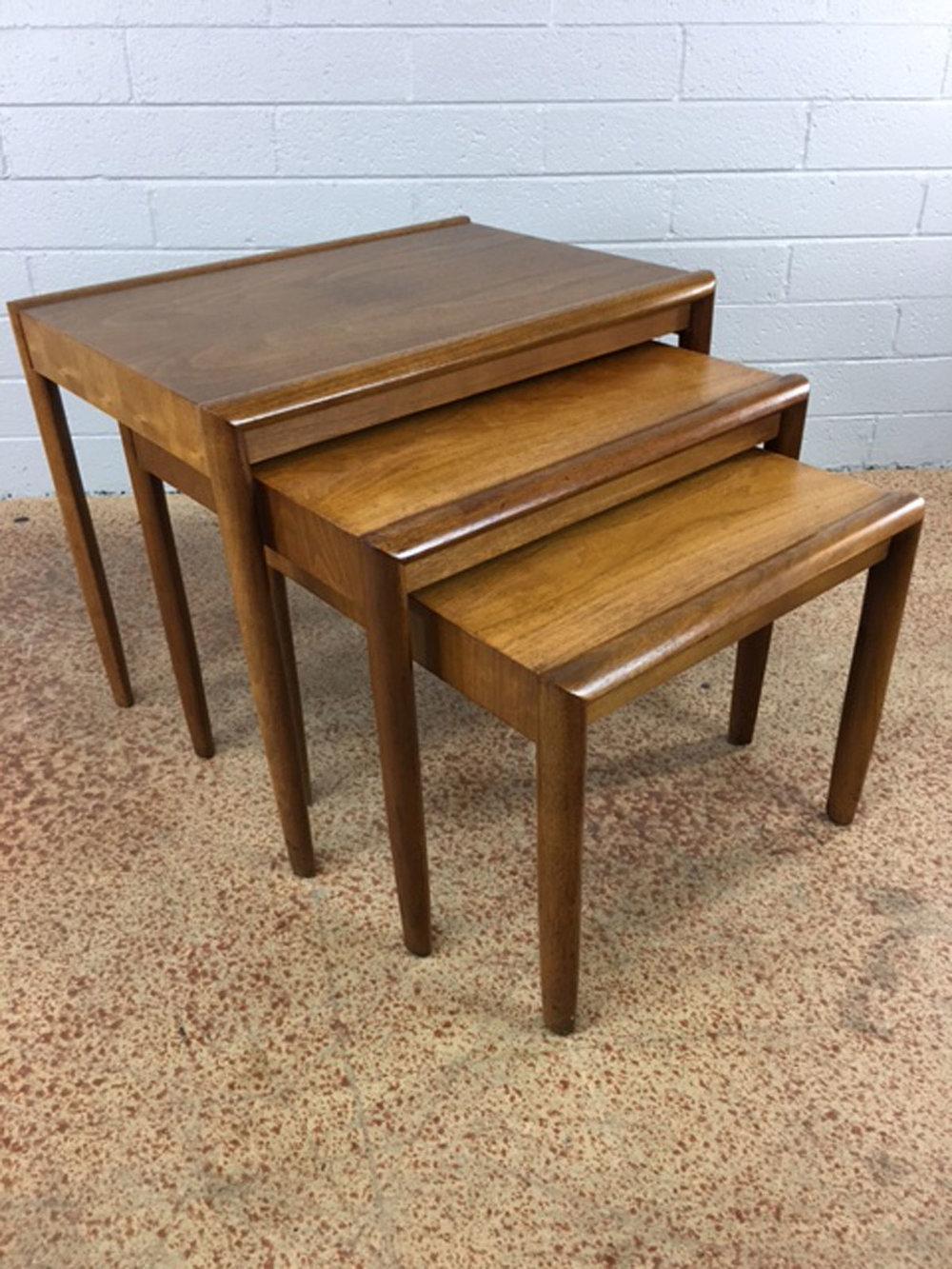 Nesting Tables By Drexel In Walnut