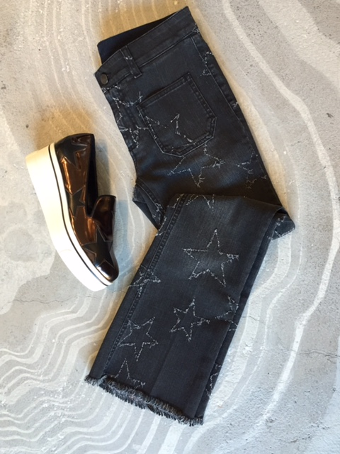 Stella McCartney Skinny Star Jeans and Binx Star Platform Sneaker