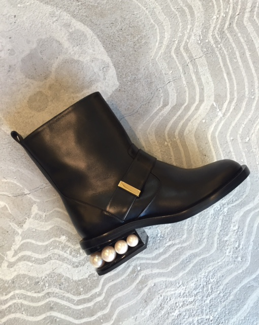 pearl biker ankle boot