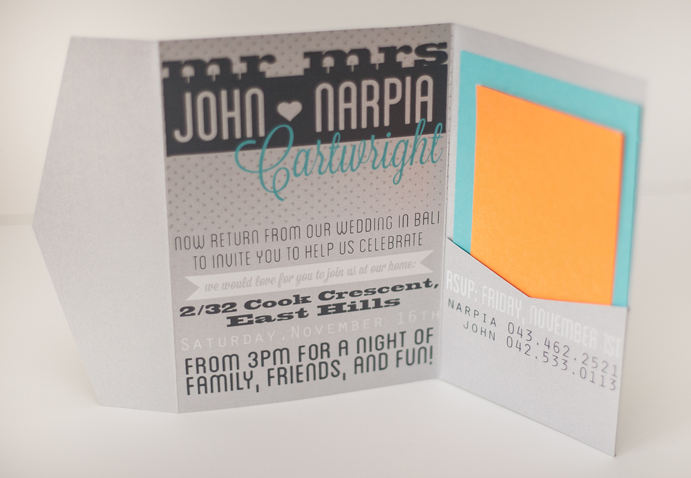 JOHN + NARPIA WEDDING SUITE, INSIDE, 2013.