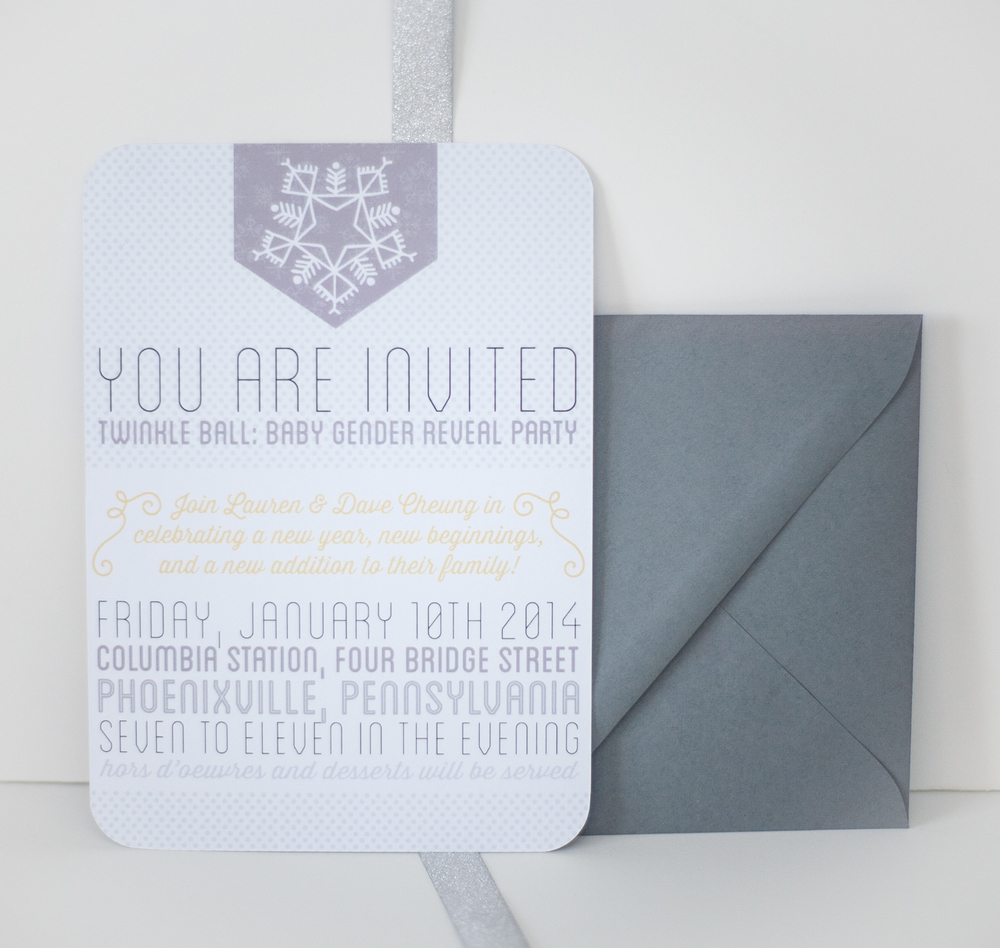 DAVE + LAUREN'S GENDER REVEAL INVITATION, 2013.