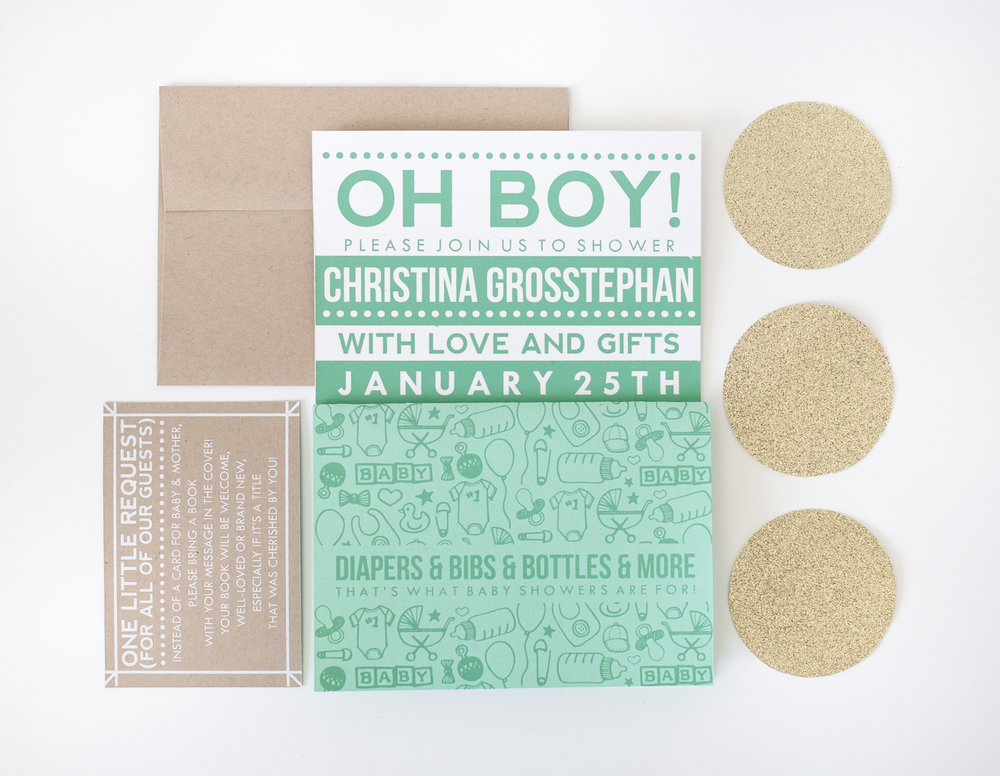 CHRISTINA'S BABY SHOWER INVITATION, 2015.