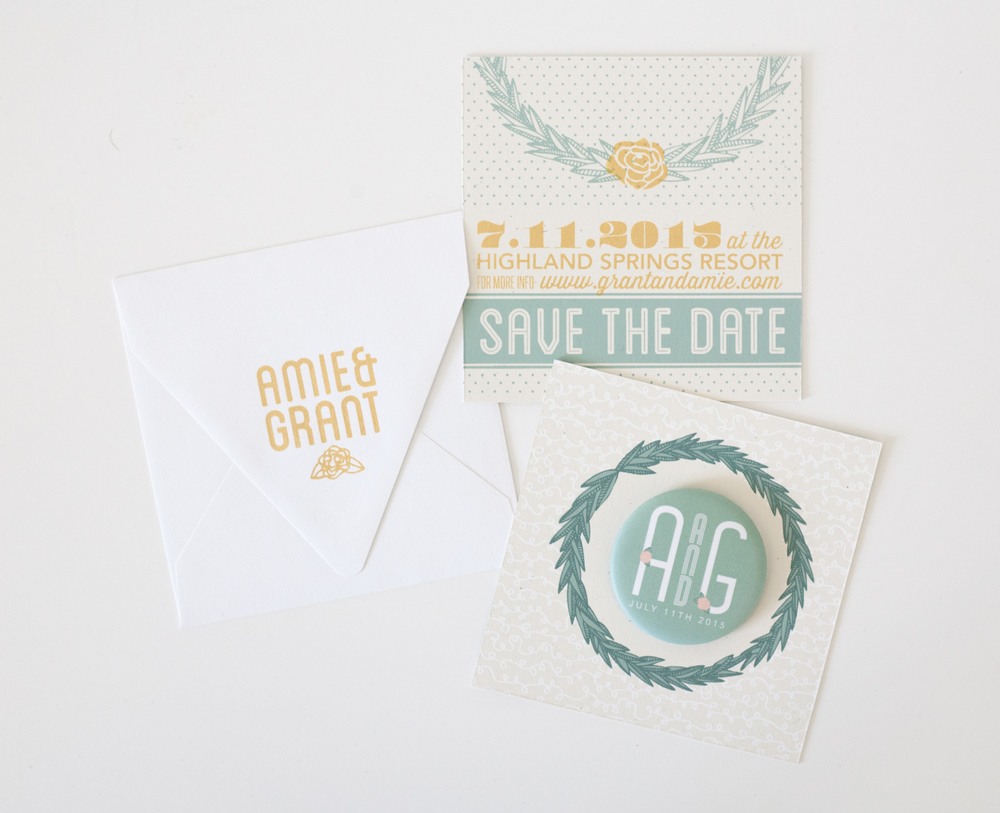 AMIE + GRANT'S SAVE-THE-DATE, 2015.