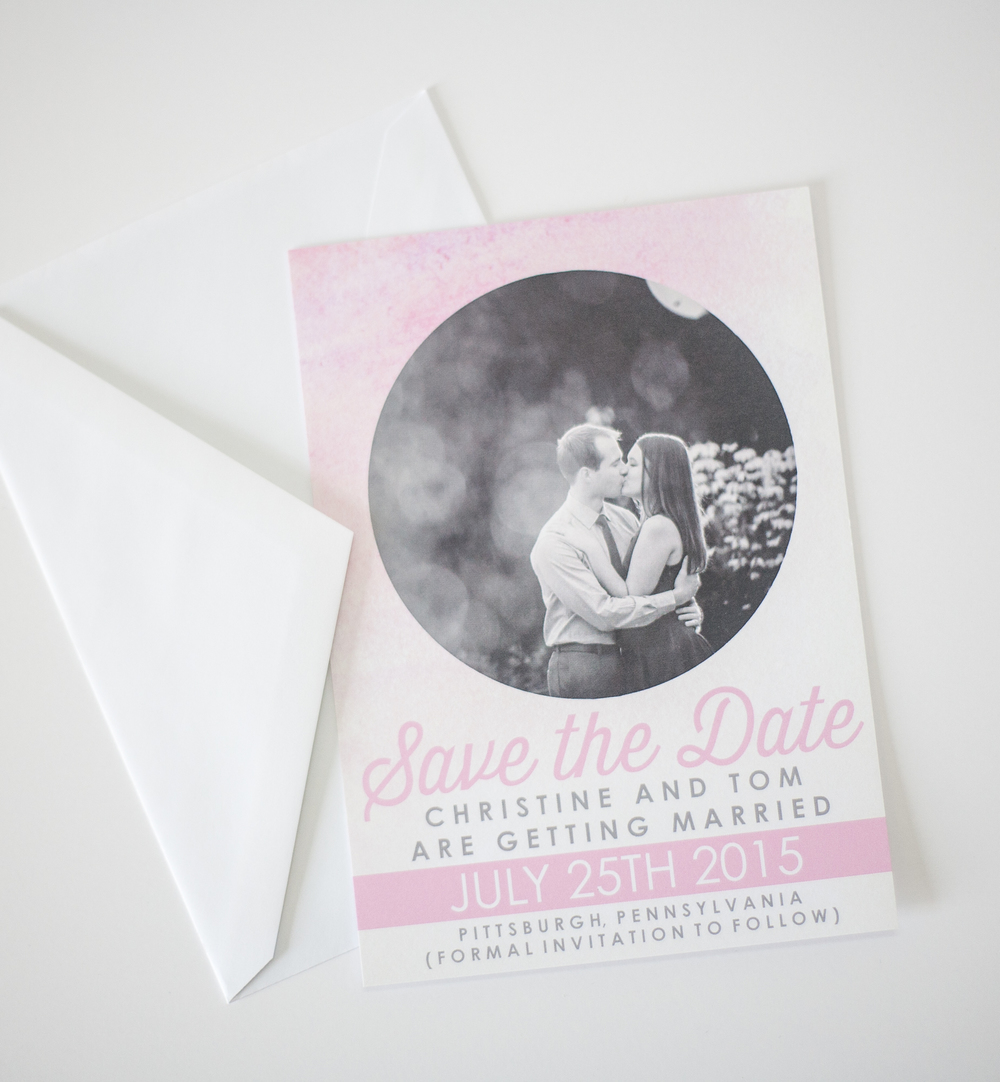 OPTION FOR CHRISTINE + TOM'S SAVE THE DATE, 2015.