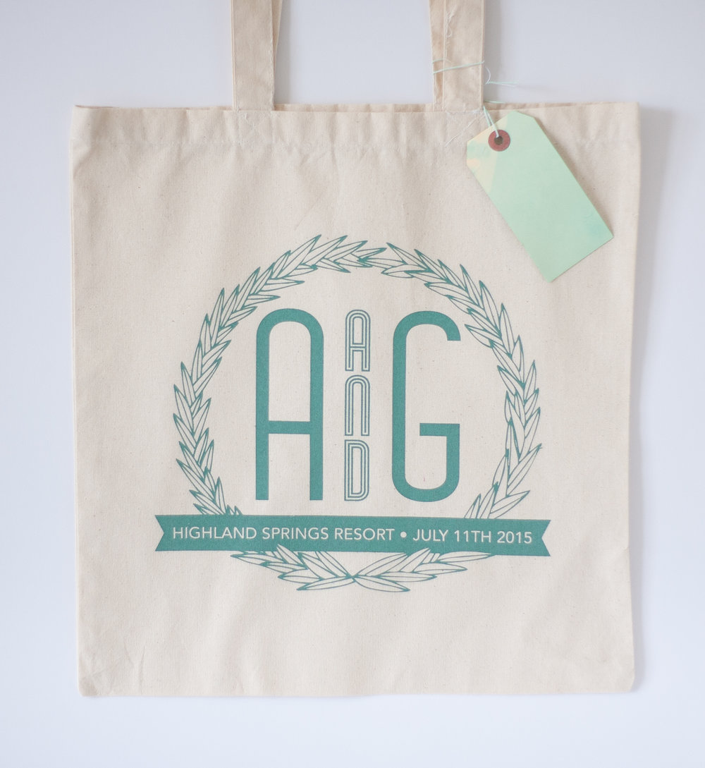 AMIE + GRANT'S WEDDING GIFT BAG, 2015.