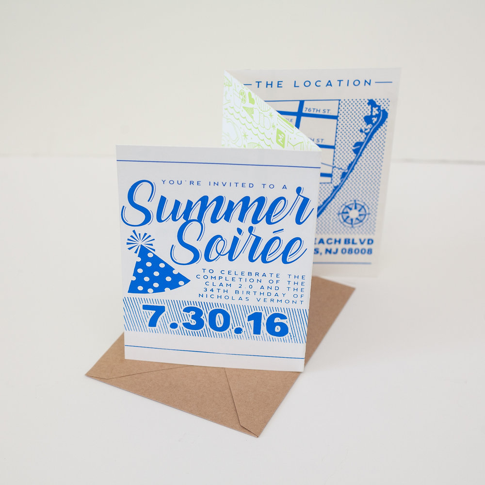 SUMMER SOIREE INVITATION, 2016.