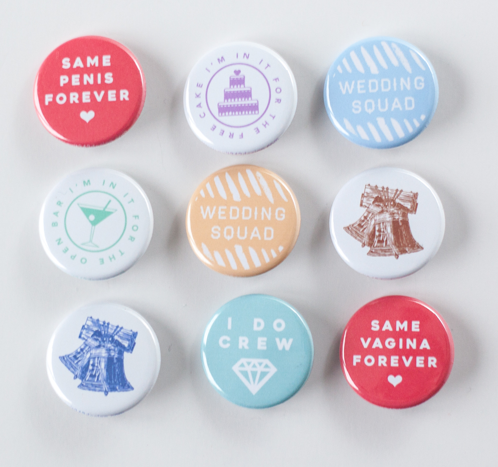 exit343design_weddingbuttons2017