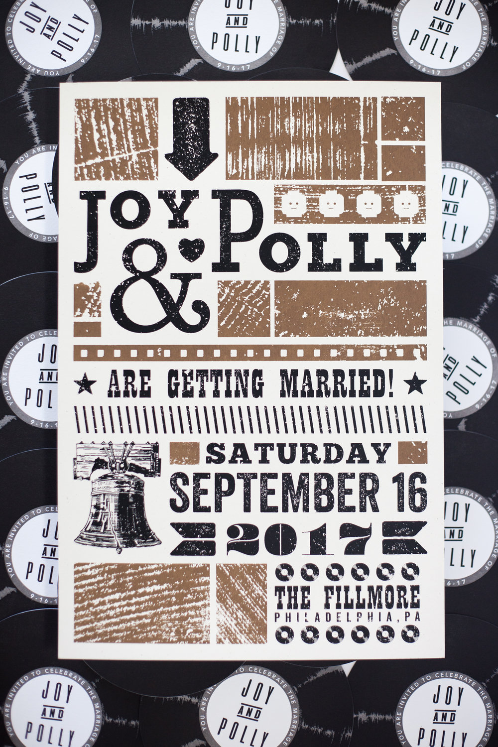 POLLY & JOY'S WEDDING POSTER, 2017.