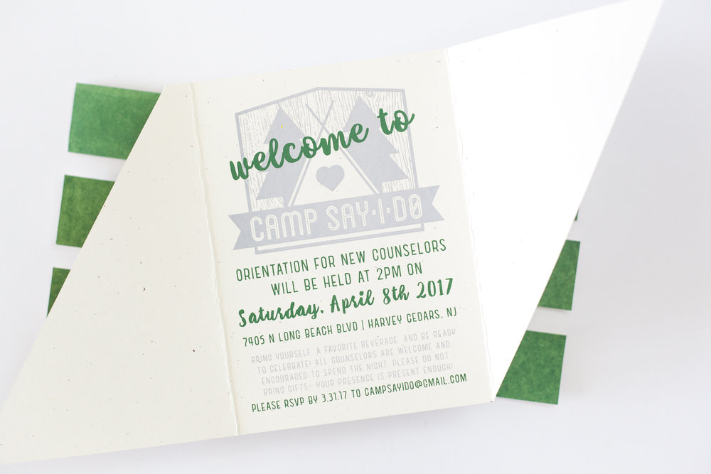 INSIDE OF INVITATION FOR ENGAGEMENT PARTY, 2017.