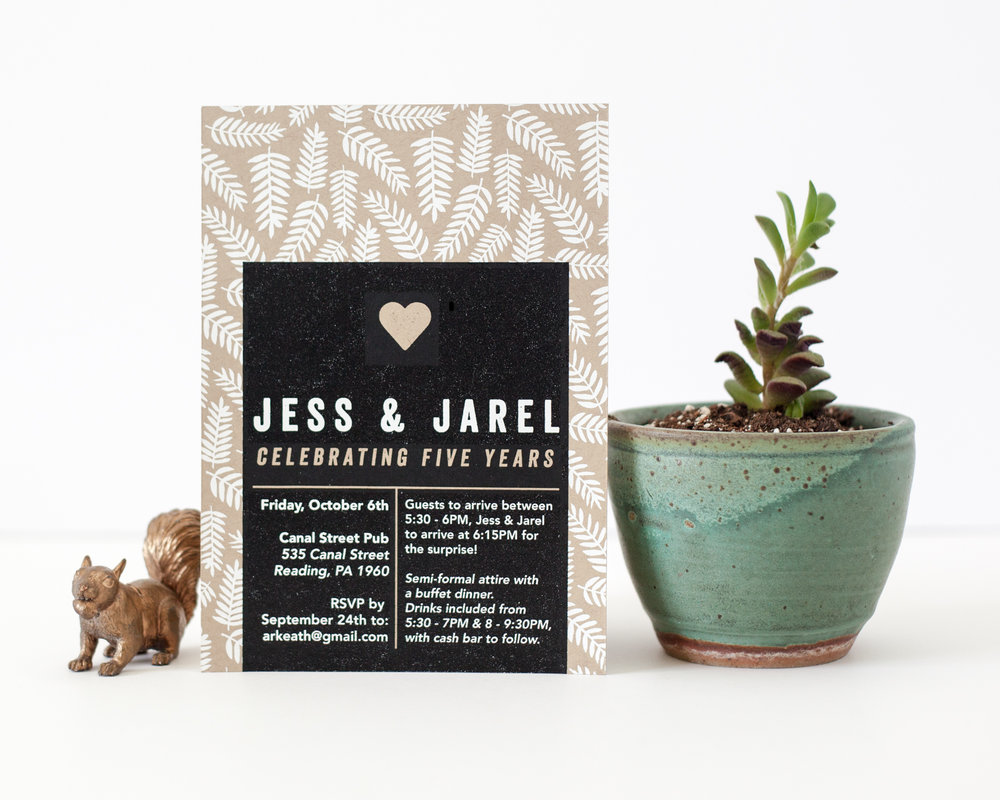 JESS & JAREL'S WEDDING RECEPTION INVITE, 2017.
