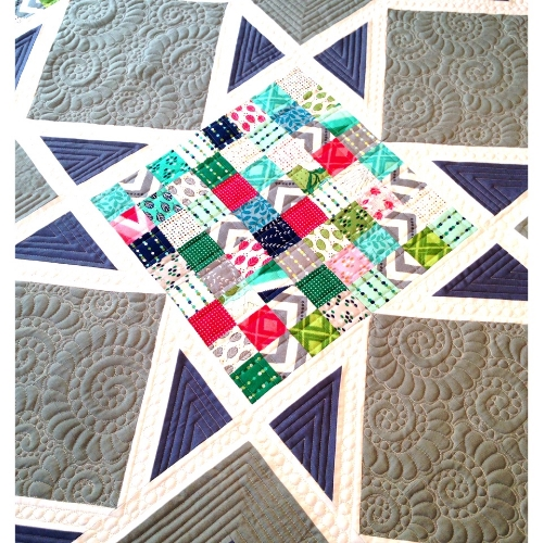 Quilting ideas for the Star Sighting quilt — threaded quilting studio : fabric lines for quilting - Adamdwight.com