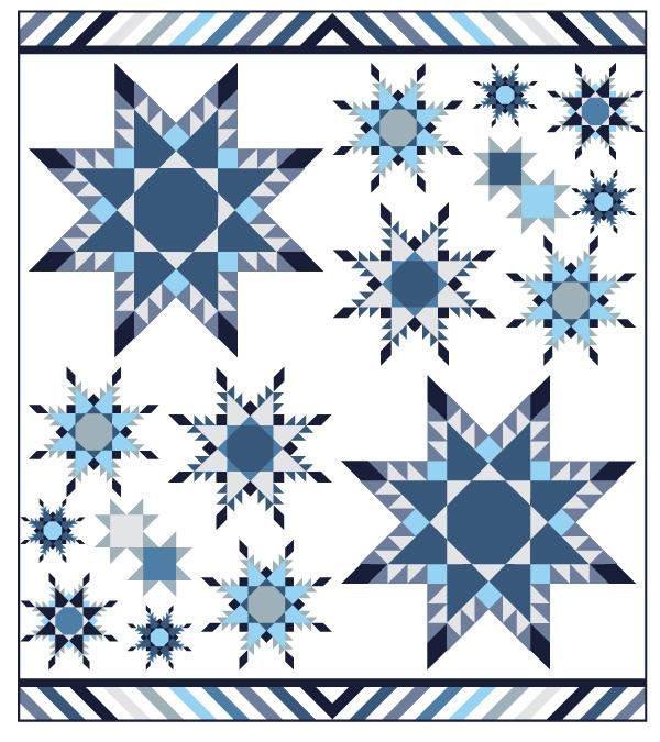 "Snowflake Sampler QAL - 76"" x 86"""